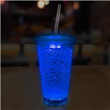 16OZ BLUE CRYSTAL TUMBLER W