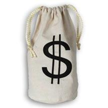 DOLLAR SIGN CANVAS GOODY BAG