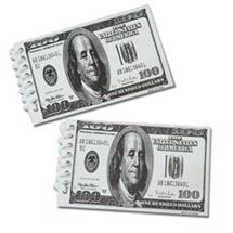 100 DOLLAR BILL SPIRAL NOTEBOOK - 12 PACK