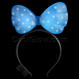 LED Minnie Mouse Headband - Blue