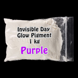 Glominex Invisible Day Glow Pigment 1 kg - Purple