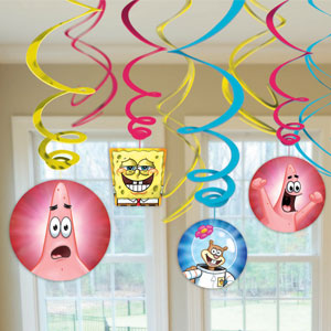 SpongeBob Party Swirls- 12ct