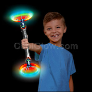 LED Double Windmill Spinner