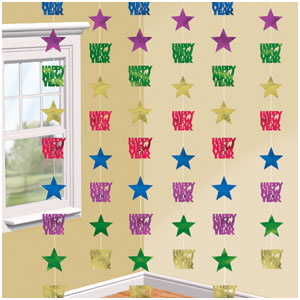 Star String Decorations - Jewel Tones 6ct
