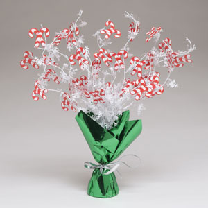 Candy Cane Foil Spray Centerpiece