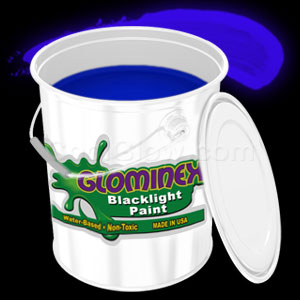 Glominex Blacklight UV Reactive Paint Gallon - Blue