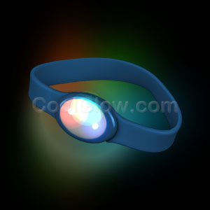 LED Silicon Wristband - Blue