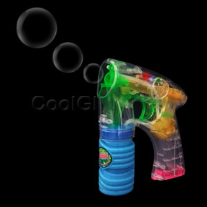 Fun Central C205 LED Light Up 6 Inch Bubble Gun