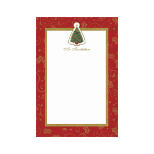 Twinkling Tree Printable Invitations- 12ct
