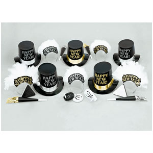 Evening Elegance New Years Party Kit for 10- 20pc