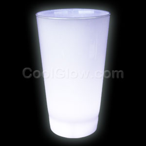 Glow LED Cup - 16 oz White