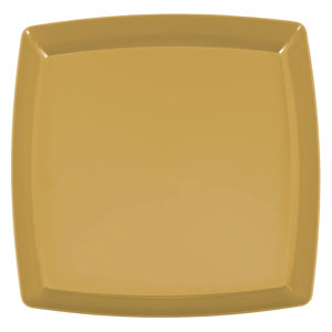 Holiday Gold Square Platter- 12in