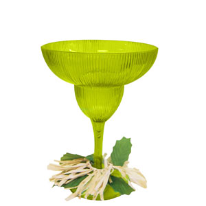 Luau 12 oz. Margarita Glass - Green