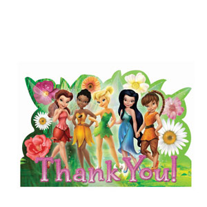 Disney Tinkerbell Thank You Cards- 8ct