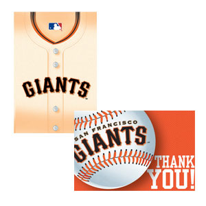 San Francisco Giants Invitations and Thank You Cards Set- 16ct