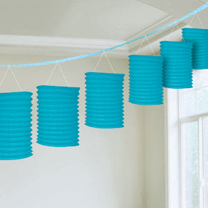 Blue Lantern Garland- 12ft