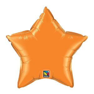 20 Inch Star Metallic Balloon- Orange