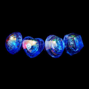 LED Jumbo Gem Rings - Blue