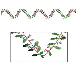 Gleam n' Flex Holly and Berries Garland - 25ft