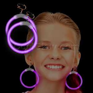 Glow Earrings - Purple