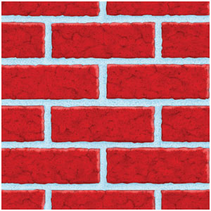 Deck the Walls Brick Room Roll - 40ft