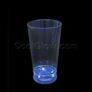 LED Flashing Pint Glass - Blue