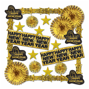 Glistening New Year's Decorating Kit - Gold