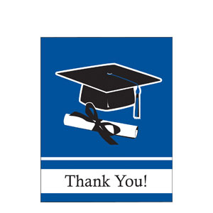 Grad Thank You Card - Blue