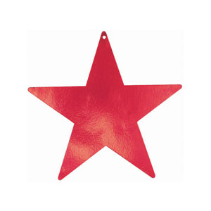 Red 9 Inch Star Cutouts- 5ct