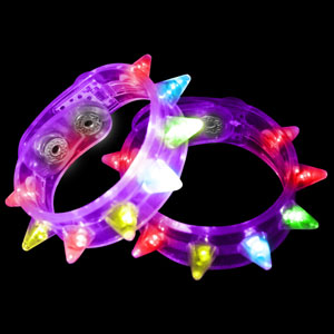 LED Spike Bracelets - Purple