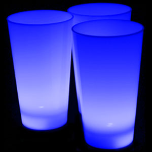 Glow LED Cup - 16 oz Blue