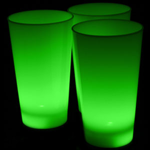 Glow LED Cup - 16 oz Green