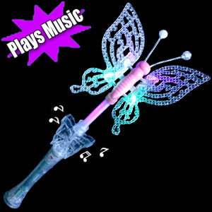 LED Multicolor Butterfly Wand with Sound