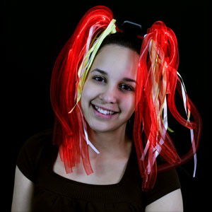 LED Party Dreads - Red