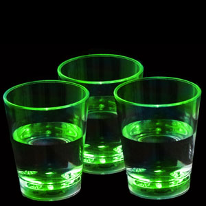 LED Liquid Activated Shot Glass - Green