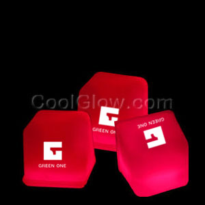 Glowing Ice Cubes - Red