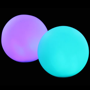 Fun Central AC811 LED Light Up Waterproof Ball Mood Light - 3 Inch Removable Stake