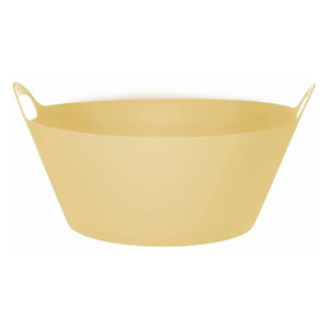 Round Gold Party Tub- 20 Inch
