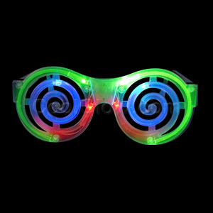 Fun Central AH955 LED Light Up Spiral Eyeglasses - Multicolor