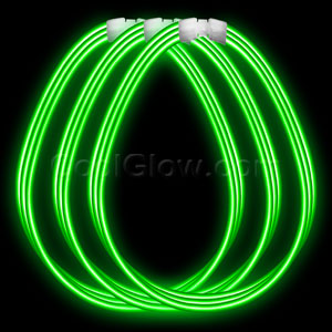 22 Inch Super Wide Glow Necklaces - Green