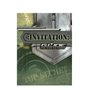 GI Joe Invitations- 8ct