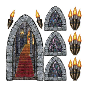 Stairway Window and Torch Wall Props - 9ct