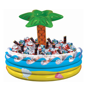 Inflatable Tropical Palm Tree Cooler - 14in