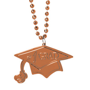 Orange Graduation Bead Necklace