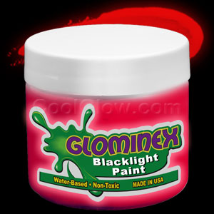 Glominex™ Blacklight UV Reactive Paint Pint - Red