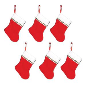 Mini Christmas Stockings - 6ct