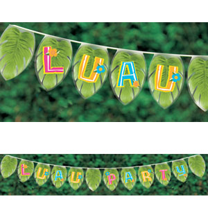 Luau Palm Leaf Pennant Banner- 25ft
