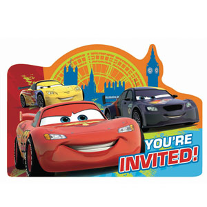 Cars 2 Invitations