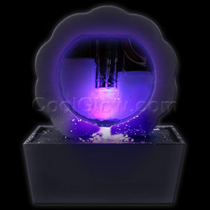 LED Illuminated Circular Fountain