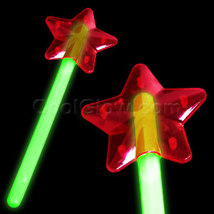 Glow Star Wand - Green